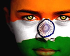 India-flag-on-face