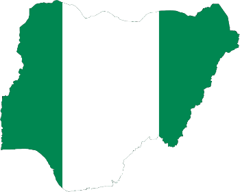 Nigeria-flag-map