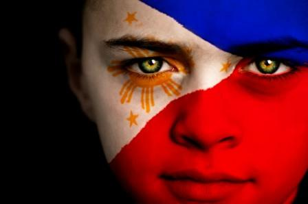 Philippines-flag-on-face