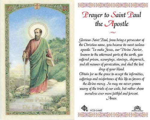 prayer to St. Paul